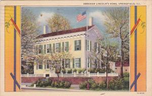 Abraham Lincolns Home Springfield Illinois 1941