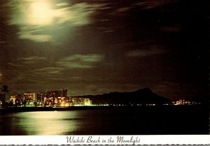 Hawaii Waikiki Beach In The Moonlight