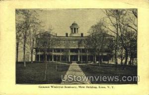 Genesee Wesleyan Seminary Lima NY 1911