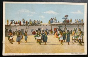 Mint USA Picture Postcard Native American Indian Corn Dance Pueblo Of Santo Domi