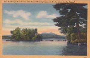 The Belknap Mountains And Lake Winnipsaukee From Dolly Island New Hampshire 1951