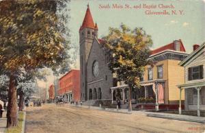Gloversville New York Main Street Baptist Church Antique Postcard K31868