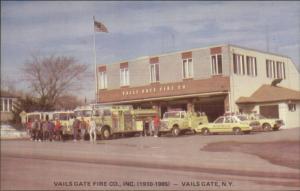 Vails Gate NY Fire Station Trucks 1985 Postcard Standard Size ORANGE COUNTY