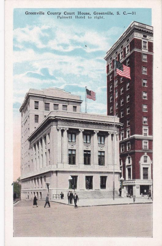 GREENVILLE, South Carolina , 10s-20s; Greenville County Court House