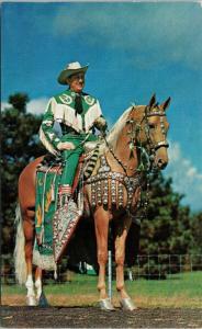 Art Miller on Peavines Golden Major Horse Cowboy Postcard D82 UNUSED