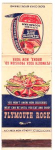 Plymouth Rock Canned Ham matchbook cover