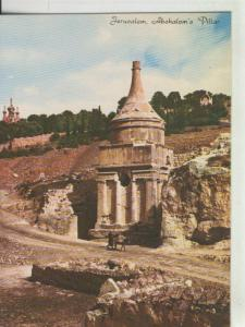 Postal 008346: Pilar de Absalom en Jerusalem, israel