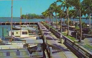 Florida Fort Myers Yacht Harbor & Tropical Island In Caloosahatchee River 1968