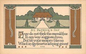 St Patrick's Day St. Patricks Day Postcard unused