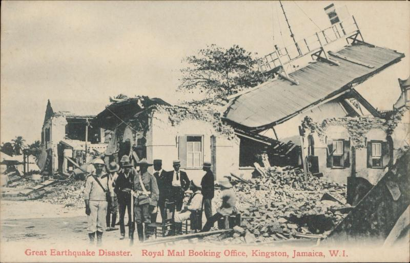 Kingston Jamaica Royal Mail Booking office Earthquake Disaster