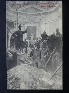 Vésuve Eruzione Del Vesuvio Soldats en Église de st Giuseppe (2) 1906 Rare Pc