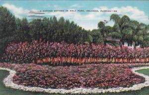 Florida Orlando A Garden Setting In Eola Park 1941