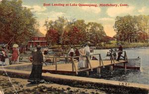Middlebury Connecticut Lake Quassapaug Boat Landing Antique Postcard K93745