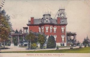 New York Fultonville Residence Of The Hon John Starin 1909