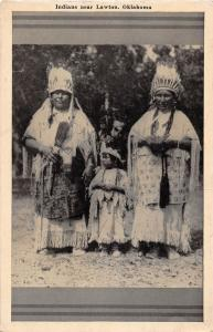 E13/ Native American Indian Postcard c1940s Lawton Oklahoma Indian Family 19