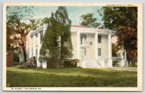 Columbus Georgia~St Elmo Mansion~Setting for Book~Augusta Jane Evans~1914 PC