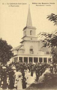 mauritius, PORT LOUIS, La Cathedrale Saint-James (1920s)