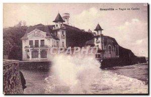 Granville Old Postcard Waves at casino