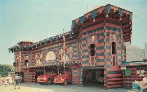 Vintage Postcard; Firehouse & Fire Engines, Parque de Bombas, Ponce Puerto Rico