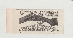 Meacham Arms Co Catalog Guns and Sporting Goods 1896 Print Ad, St. Louis Mo