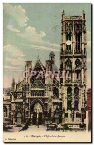 Old Postcard Dieppe Eglise Saint Jacques