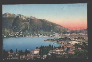 115792 Italy BRUNATE Lake Como Vintage POSTCARD