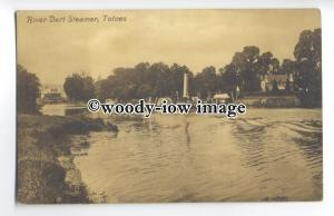 tq0577 - Devon - River Dart Paddle Steamer cruising up River, Totnes - Postcard