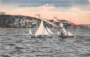 Turkey Old Vintage Antique Post Card Roumeli Hissar Bosphore Constantinople U...