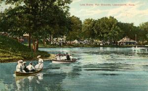 KS - Leavenworth. Fair Grounds, Lake Scene