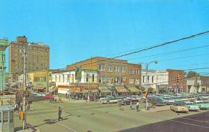 Goldsboro NC Storefronts Business Section Wayne Movie Theatre Old Cars Postcard