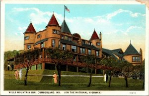 Maryland MD postcard Cumberland, Wills Mountain Inn hotel Curt Teich