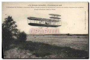 Old Postcard Jet Aviation Airplane s & # 39aviateur Wilbur Wright during the ...