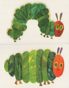The Very Hungry Caterpillar Eric Carle Book 2x Postcard s