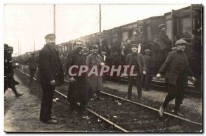 PHOTO CARD Travel from the 1916 class to the barracks (militaria train) TOP