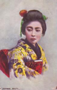 A Japanese Beauty Tucks Oilette Japan Postcard