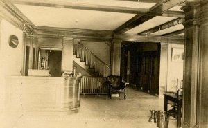 ME - Kingfield. The Herbert Hotel, Lobby   RPPC