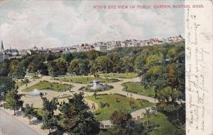 Massachusetts Boston Birds Eye View Of Public Garden 1906