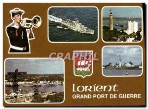 Modern Postcard Boat War Lorient Grand Port War