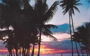 Hawaii Honolulu Sunset In Hawaii