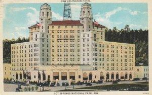 HOT SPRINGS NATIONAL PARK, Arkansas, PU-1935; New Arlington Hotel