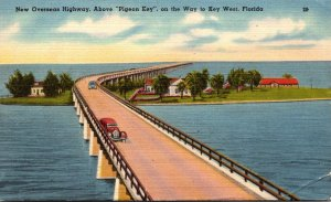 Florida New Overseas Highway Above Pigeon Key On Way To Key West 1947