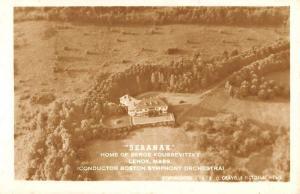 Lenox Massachusetts Seranak Home Real Photo Antique Postcard K68165