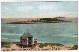 Seguin Island From The Mouth Of The Kennebec River, Me