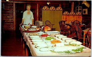 Park Rapids, Minnesota Postcard PINE CONE LODGE Restaurant Interior c1950s