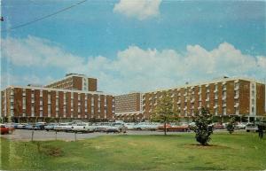 Stillwater OK~Oklahoma State University~Dormitories~Parking Lot~1960s Cars
