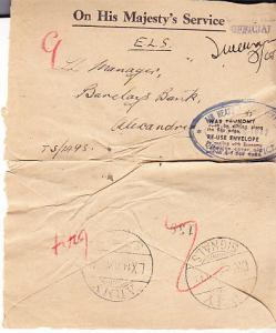 UK - Army Signals Cancel- Egypt 1942