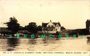 1939 Wolfe Island Ontario RPPC: Doctor Deming's Summer Home