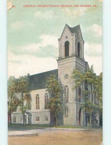Edge Wear - Divided-Back CHURCH SCENE Des Moines Iowa IA p5162