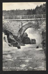 Ulvik Bridge & White Water Norway RPPC unused c1920's