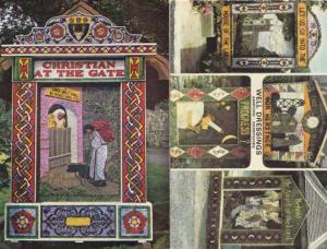 Ashford Well Dressings 2x 1970s Derby Postcard s